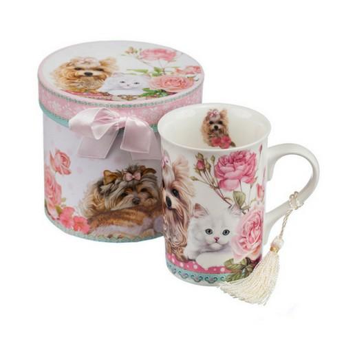 Порцеланова чаша коте/куче