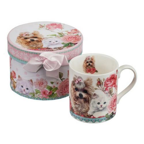 Порцеланова чаша за кафе Коте и Куче MUG на супер цена от Neostyle.bg