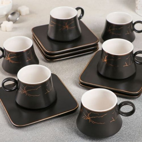 Сервиз за чай/кафе с метални лъжички на супер цена от Neostyle.bg