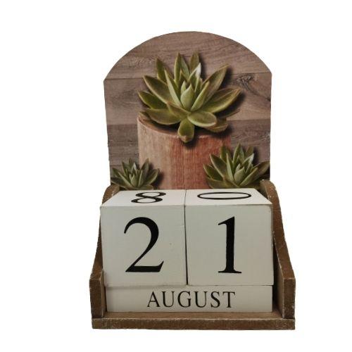 Дървен вечен календар на супер цена от Neostyle.bg