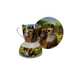 Детски сервиз за хранене Maша и мечока