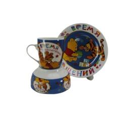 Детски сервиз за хранене от порцелан Мечо Пух