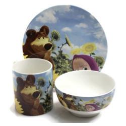 Детски сервиз за хранене Maша и мечока - преоценен