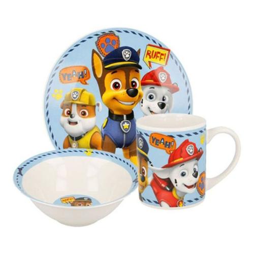 Детски сервиз за хранене от порцелан -Paw Patrol на супер цена от Neostyle.bg