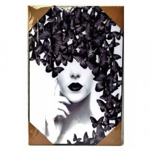 Арт картина Жена с Пеперуда