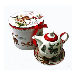 Коледен комплект чаша с чайник
