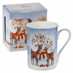 Коледна чаша еленчета Mug