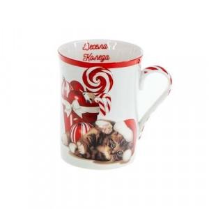 Коледна чаша Игриво Коте