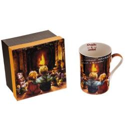 Коледна чаша за чай/кафе Коледа е любов