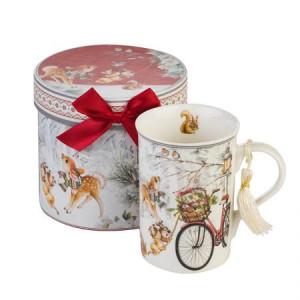 Коледна чаша с Велосипед