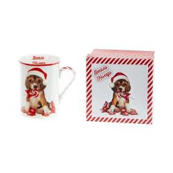 Коледна чаша за чай/кафе Кученце
