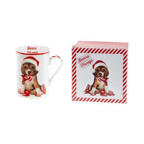 Коледна чаша за чай/кафе Кученце на супер цена от Neostyle.bg