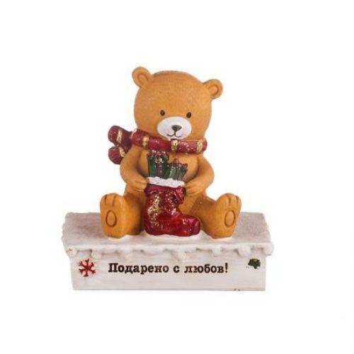Meченце с коледен ботуш на супер цена от Neostyle.bg