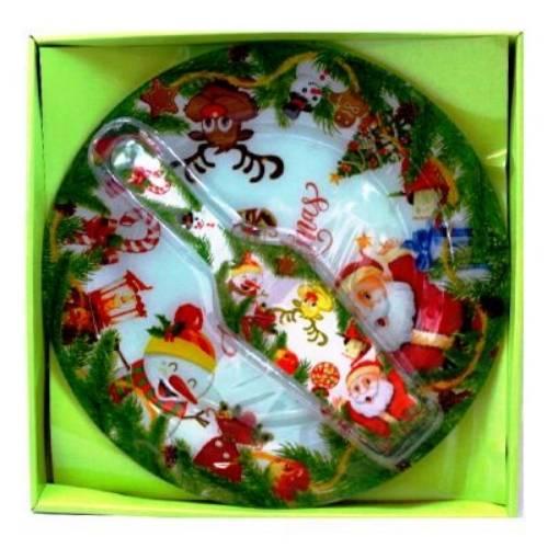 Сервиз за торта -Дядо Коледа