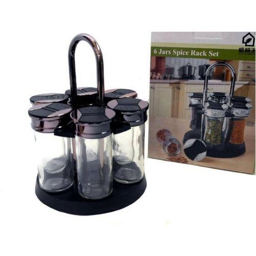 Комплект стъклени съдове за подправки на стойка на супер цена от Neostyle.bg