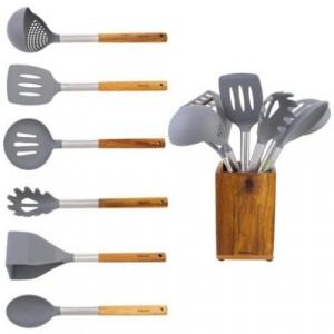 Комплект кухненски прибори на поставка