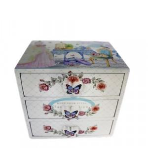 Кутия за бижута Божури