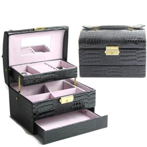 Кутия за бижута - черна