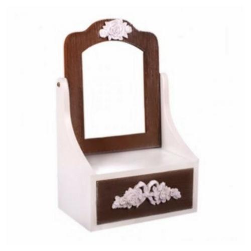 Кутия за бижута с огледало и чекмедже