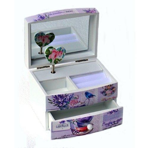 Музикална кутия за бижута Лавандула на супер цена от Neostyle.bg