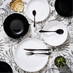 Сервиз за хранене luminarc diwali black and white 19 части