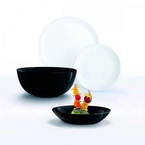 Сервиз за хранене luminarc diwali black and white 19 части на супер цена от Neostyle.bg