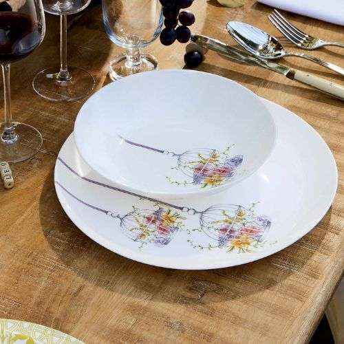 Сервиз за хранене Flore Luminarc 18 части на супер цена от Neostyle.bg