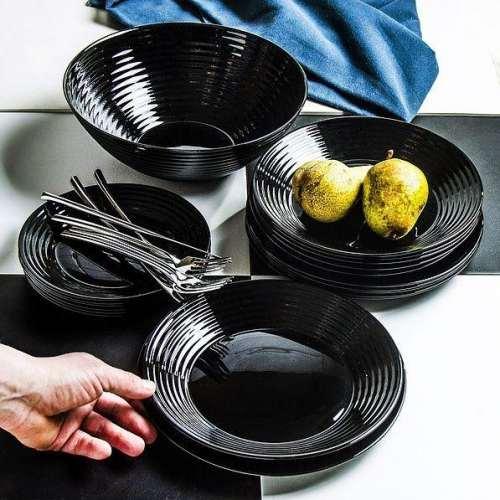 Сервиз за хранене Luminarc Harena Black на супер цена от Neostyle.bg