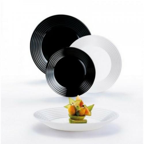Сервиз за хранене Luminarc Harena Black & White на супер цена от Neostyle.bg
