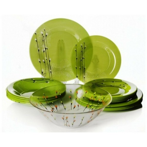 Сервиз за хранене Luminarc Rhapsody Green 19 части