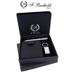 Комплект химикалка, портфейл и ключодържател F.Bartholdi