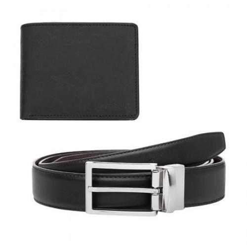 Мъжки комплект портфейл и колан от естествена кожа 110 см. на супер цена от Neostyle.bg