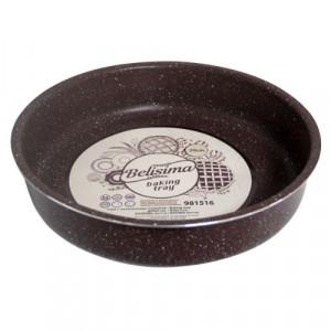 Кръгла тава за печене с мраморно покритие
