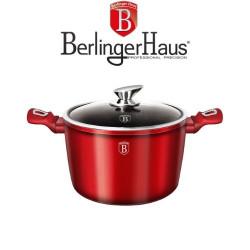 Тенджера с мраморно покритие Burgundi Metalic Line Berlinger Haus
