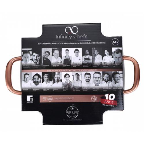 Тенджера Infinity Chefs 24 см, 4.5 л на супер цена от Neostyle.bg