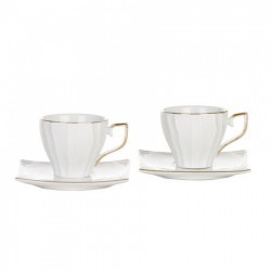 Чаши за кафе и чай 4 части Gold handle Morellо