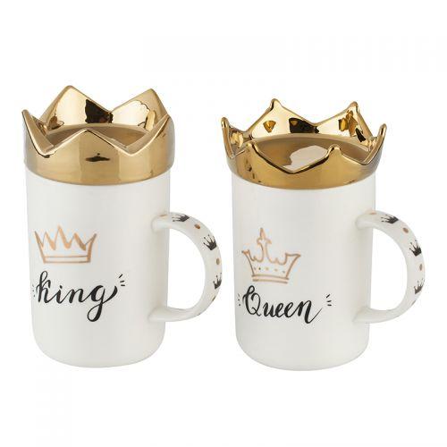 Комплект чаши King&Queen на супер цена от Neostyle.bg