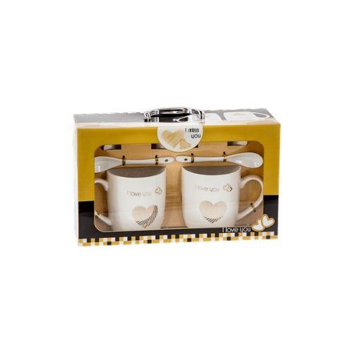 Комплект чаши за чай - Обичам те на супер цена от Neostyle.bg