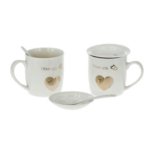 Комплект чаши за чай - Обичам те