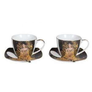 Комплект две чаши с чинийки и лъжички - Адел Бош
