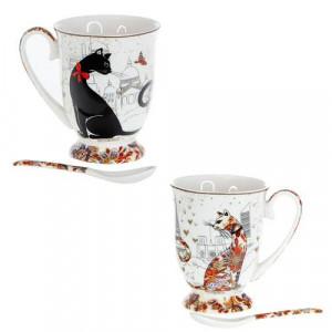 Сервиз за чай от 2 чаши MUG котки