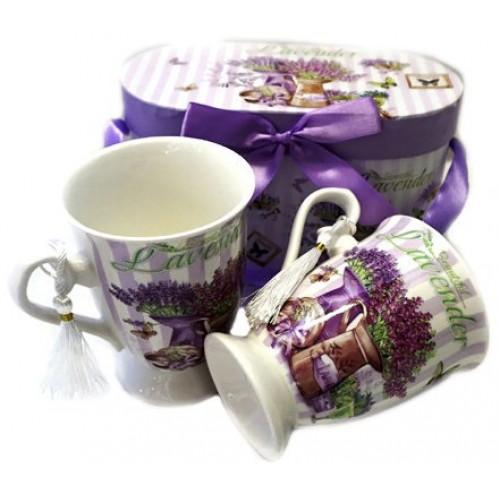Луксозен сервиз за чай/кафе Лавандула