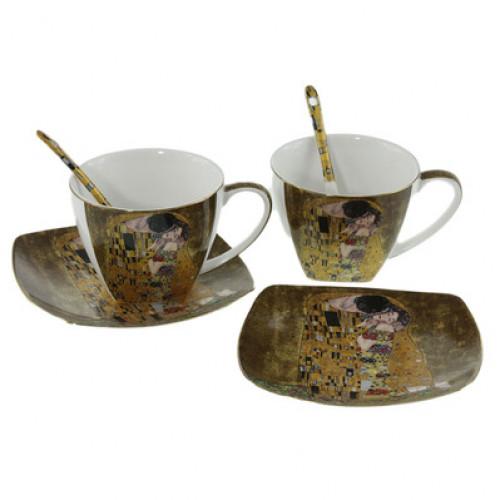 Подаръчен Комплект за чай/кафе Целувката на супер цена от Neostyle.bg