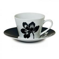 Сервиз за чай в черно бял десен