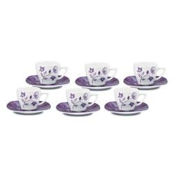 Комплект 6 чаши с 6 чинийки