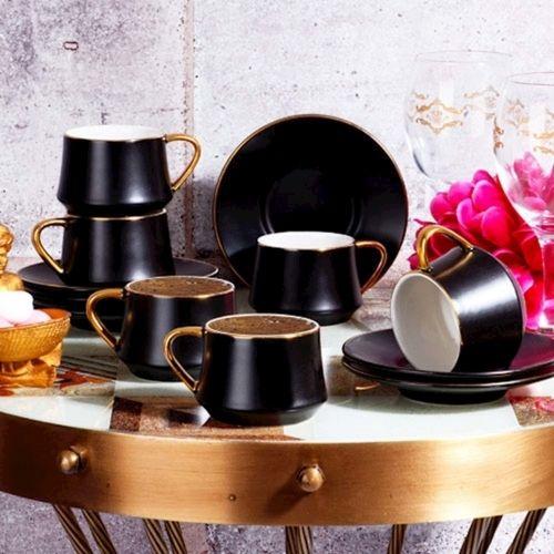 Комплект чаши за кафе Black Collection на супер цена от Neostyle.bg
