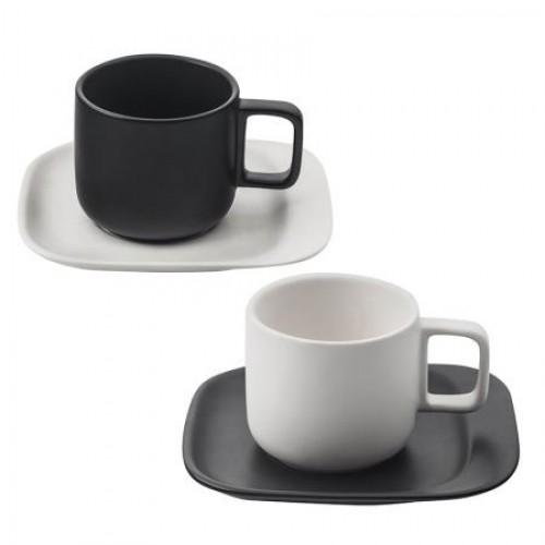 Сервиз за чай/кафе Black & White Lancaster на супер цена от Neostyle.bg