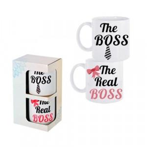 Комплект чаши за кафе The Boss/The Real Boss
