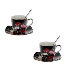 Комплект чаши за кафе Flower Collection