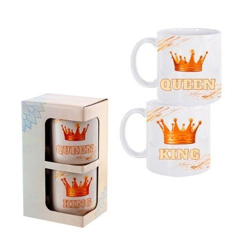 """К-кт 2 броя чаши """"King and Queen"""" на супер цена от Neostyle.bg"""